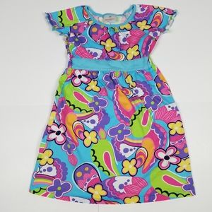 Hanna Andersson 120 colorful flowers print dress